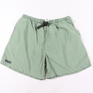 90s Columbia Mens XL Spell Out Hiking Shorts Green